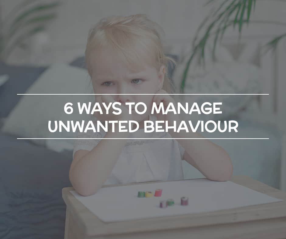 ways to manage unwanted behaviour